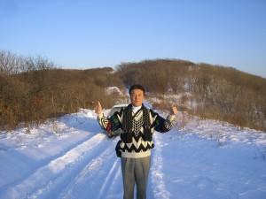 ロシアの雪原にて